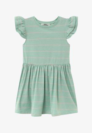 NICOLETTE - Žerzejové šaty - mint/bubble pink