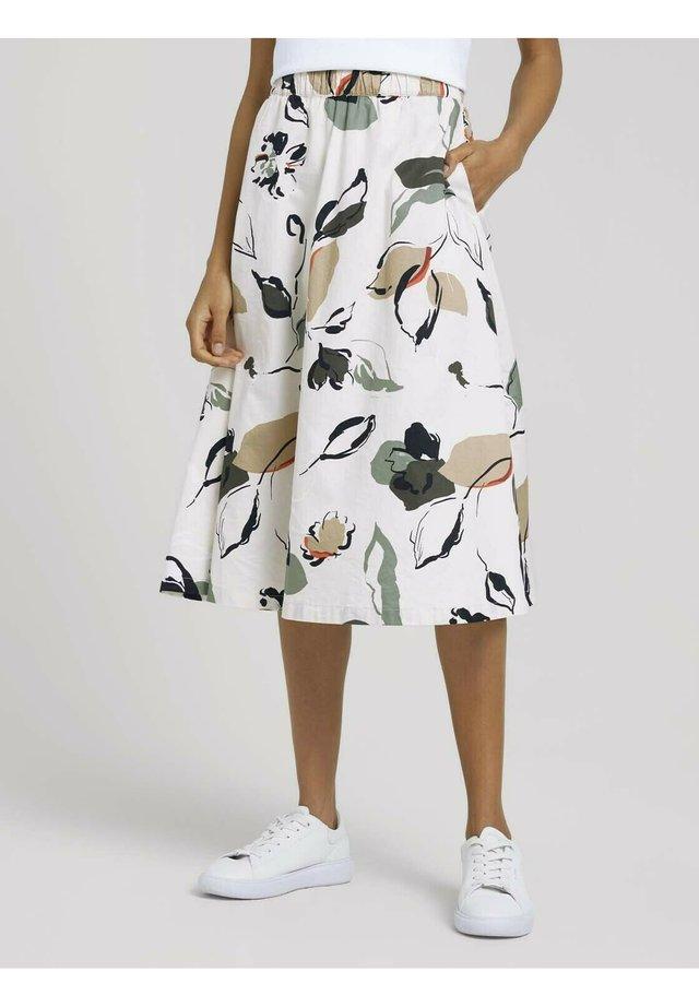 Jupe trapèze - floral design