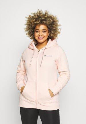 HOODED FULL ZIP - Bluza rozpinana - pink