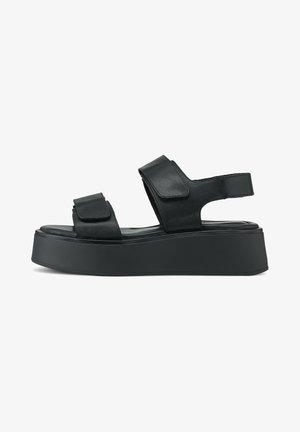 Sandały na platformie - schwarz