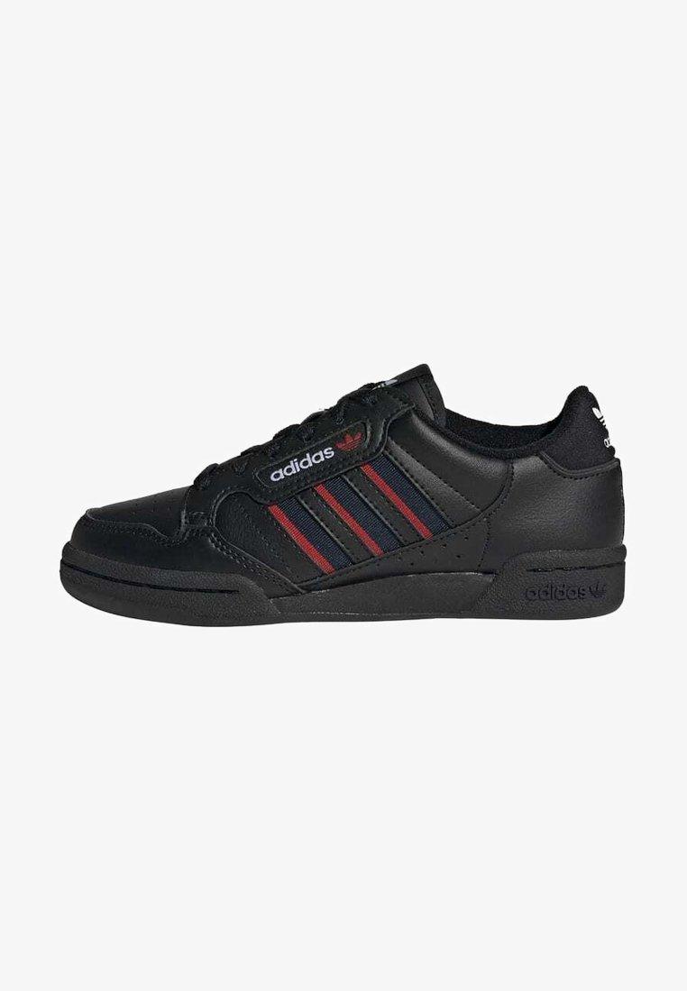 adidas Originals - CONTINENTAL 80 3 STRIPES SHOES - Trainers - core black/collegiate navy/vivid red