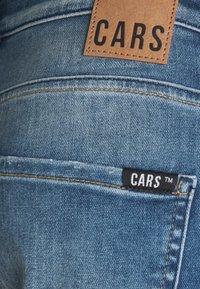 Cars Jeans - ORLANDO DAMAGED - Džínové kraťasy - green cast - 5