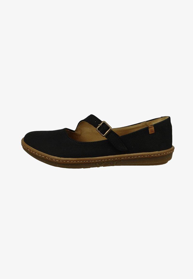 El Naturalista - Ankle strap ballet pumps - black