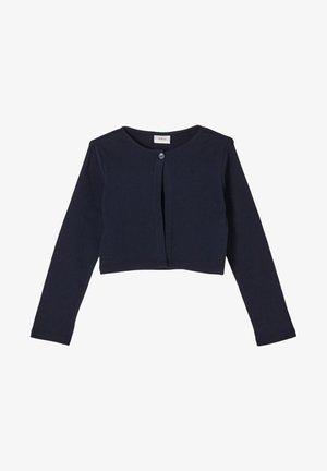 MET GESTRUCTUREERD HARTJESMOTIEF - Cardigan - dark blue