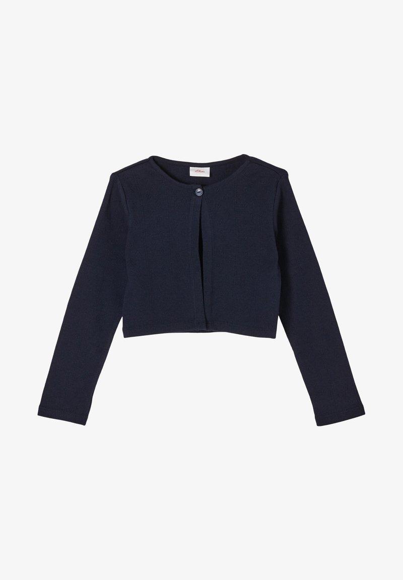 s.Oliver - MET GESTRUCTUREERD HARTJESMOTIEF - Vest - dark blue