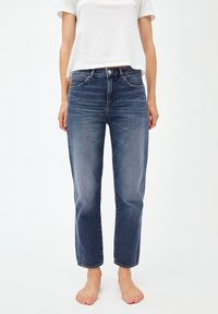 ARMEDANGELS - FJELLAA CROPPED - Straight leg jeans - used blue - 0