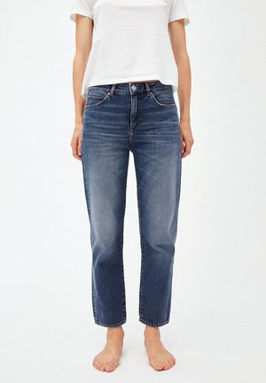 FJELLAA CROPPED - Jeans Straight Leg - used blue