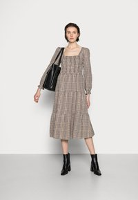 Cream - ULLA DRESS - Day dress - truffet check - 1