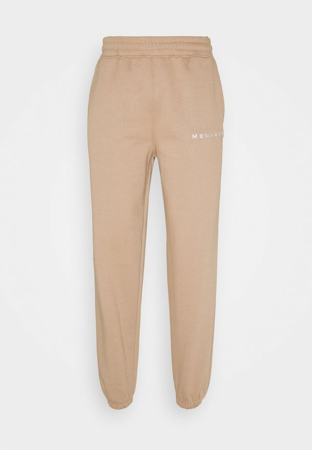 ESSENTIAL UNISEX - Tracksuit bottoms - sand