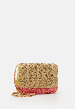 CHAIN CROSSBODY - Skulderveske - natural/pink/yellow