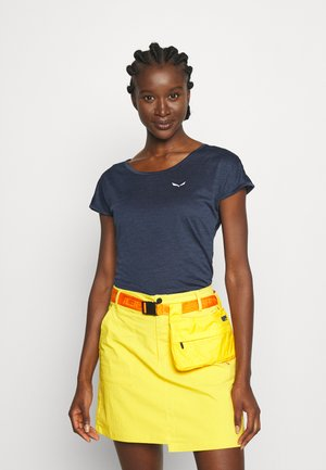 PUEZ DRY TEE - Jednoduché triko - navy blazer melange