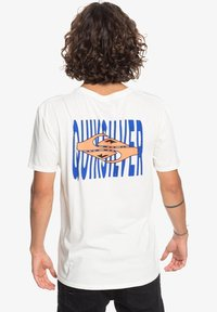 Quiksilver - EITHER WAY  - Print T-shirt - snow white - 2