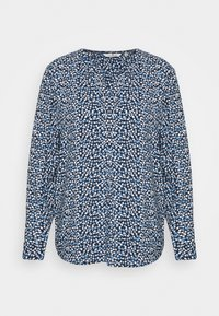 TOM TAILOR - BLOUSE PRINTED WITH TAPE - Blouse - navy blue - 0