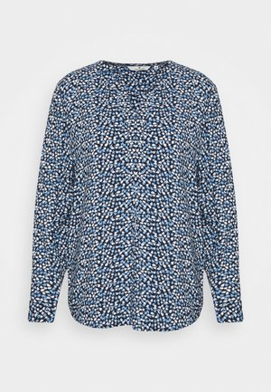 BLOUSE PRINTED WITH TAPE - Blouse - navy blue