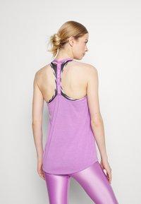 Nike Performance - DRY ELASTIKA TANK - Treningsskjorter - violet shock heather/white - 2