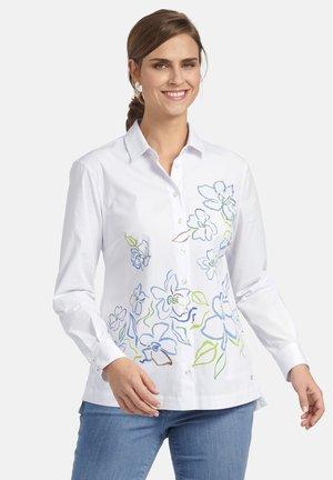 MIT BLUMEN PRINT - Button-down blouse - weiã