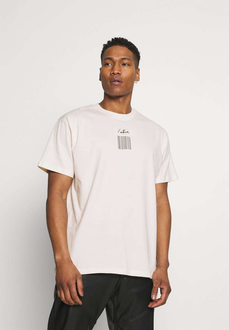 The Couture Club - RELAXED FIT T-SHIRT WITH WAVE BACK PRINT - Print T-shirt - whisper white
