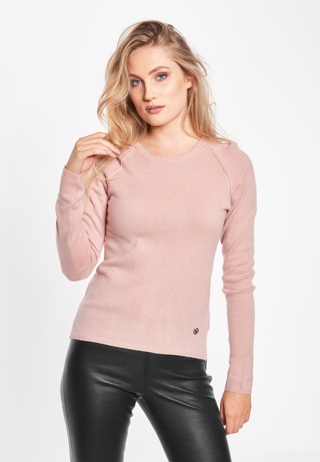 MARIE - Stickad tröja - rose