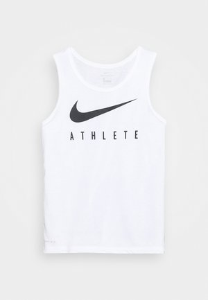 TANK ATHLETE - Sports shirt - white/black