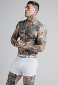 SIKSILK - TAPED 2 PACK  - Pants - black/white - 2