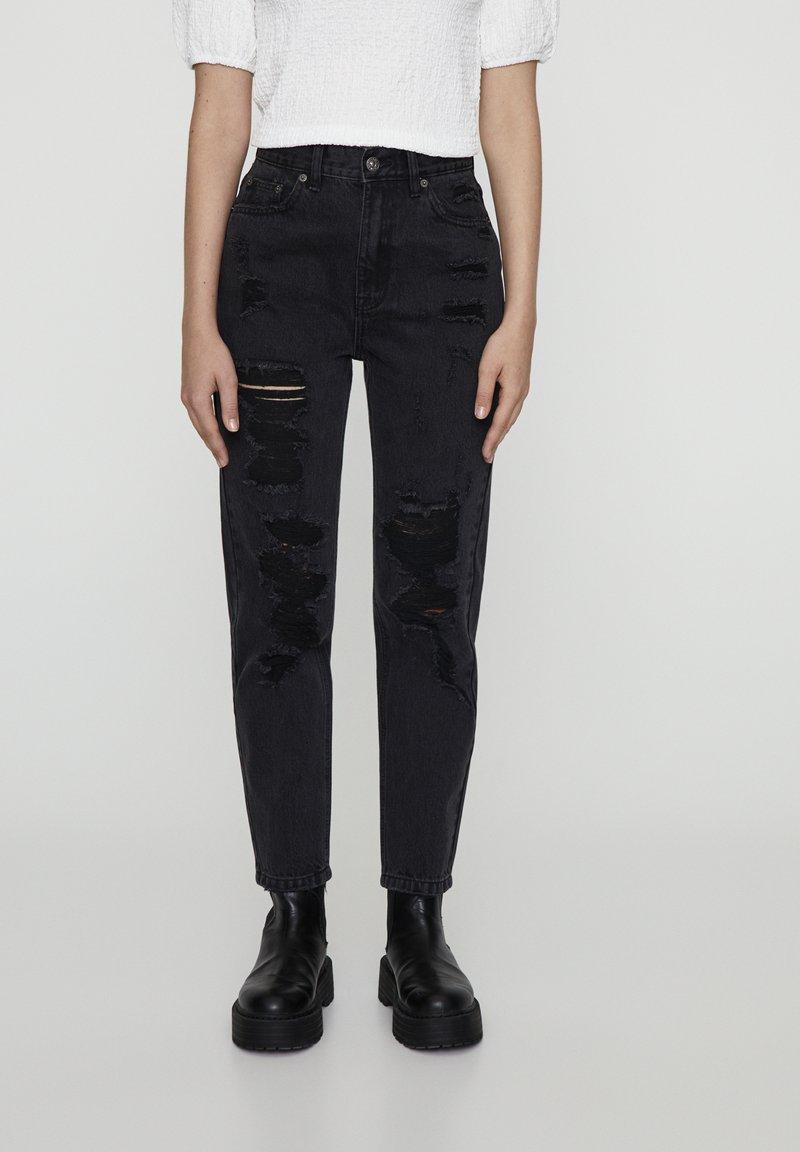 PULL&BEAR - Slim fit jeans - black denim