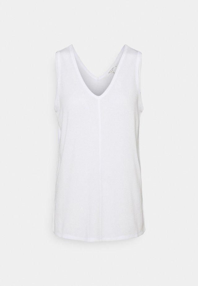 THE VNECK TANK LABEL - Basic T-shirt - white