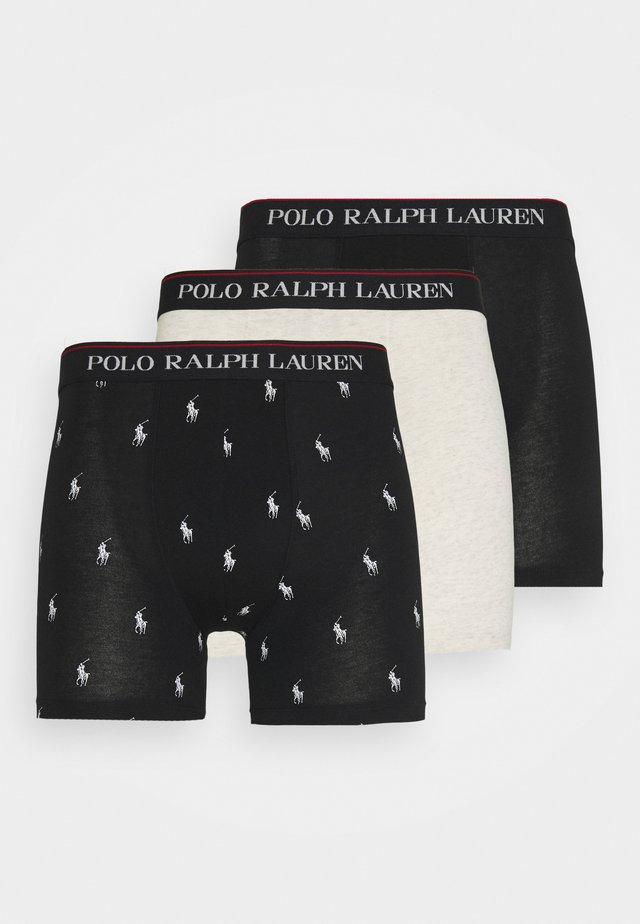 3 PACK - Panties - black/newsand