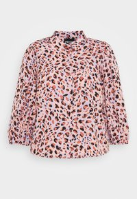 PCROSIA PUFF SLEEVED - Button-down blouse - lavender/abstract leo