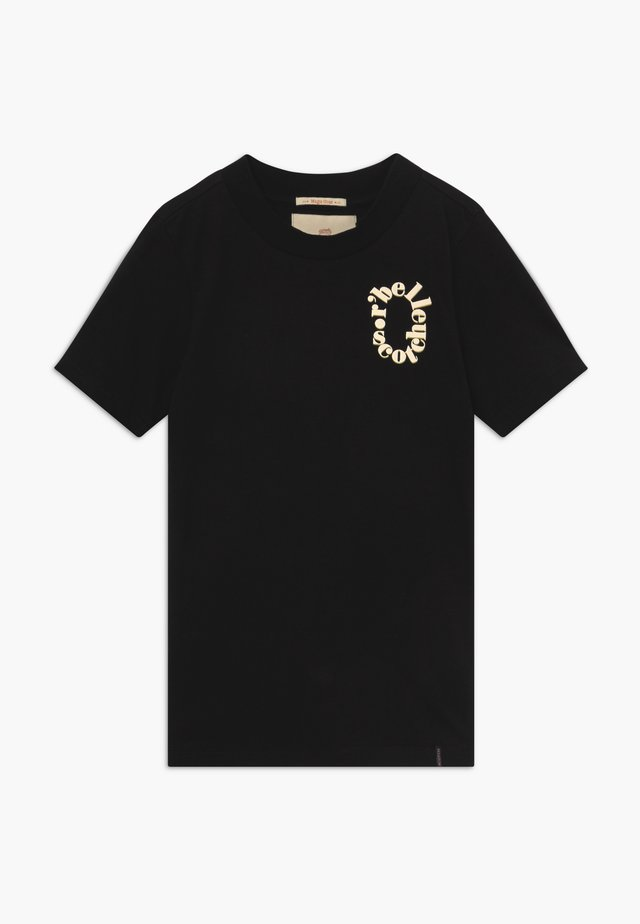 TEE WITH SMALL CHEST ARTWORK - T-shirt med print - black