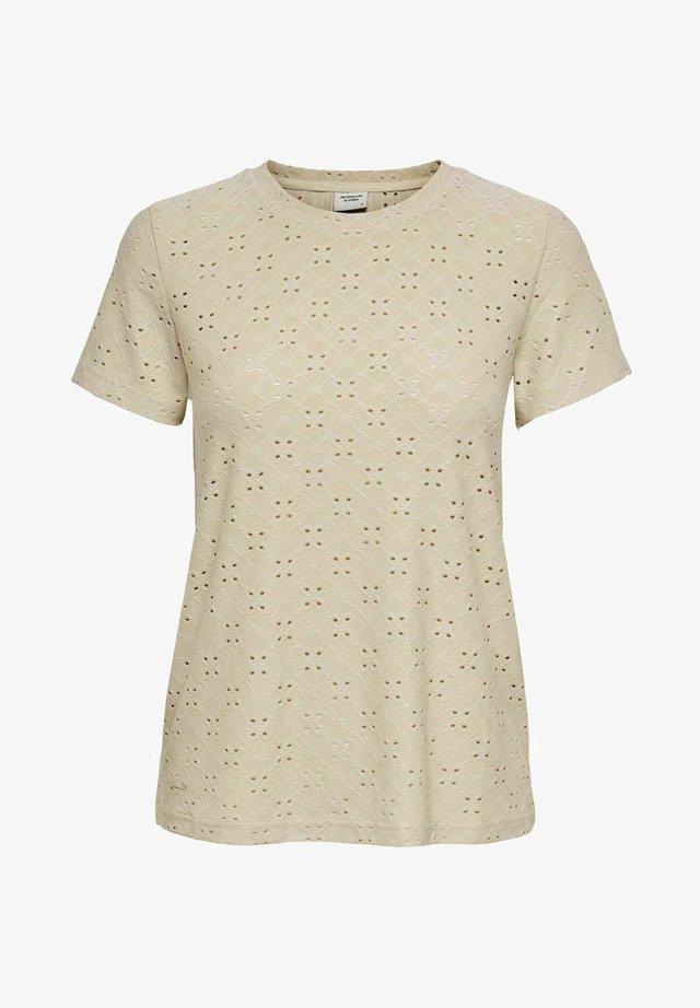 JDYCATHINKA - T-shirt print - beige