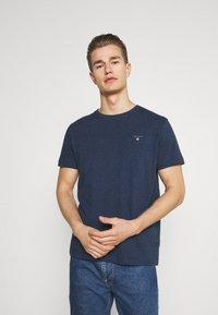 GANT - THE ORIGINAL - T-shirt - bas - marine melange - 0