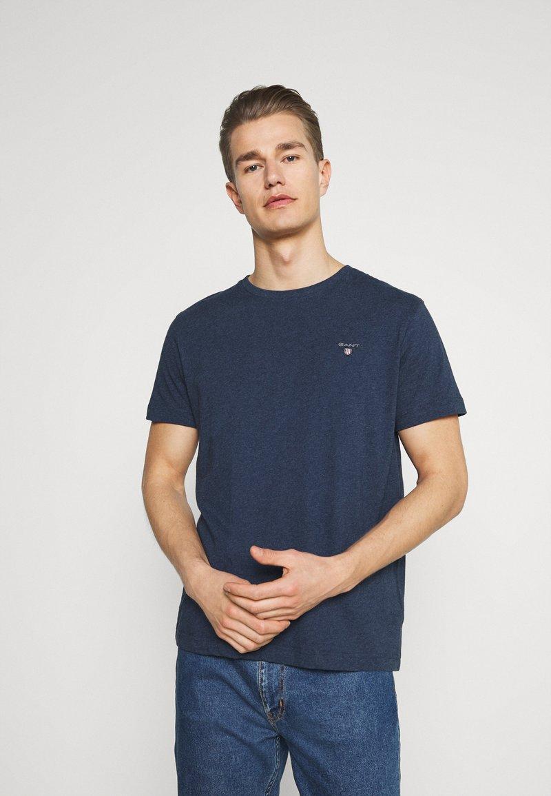GANT - THE ORIGINAL - T-shirt - bas - marine melange