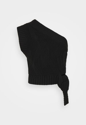 BEAGLE KNIT VEST - Jumper - black
