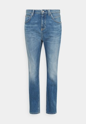 FREJA BOYFRIEND - Relaxed fit jeans - mid blue marble