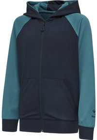 Hummel - ACTION - Zip-up hoodie - dark sapphire/blue coral - 4