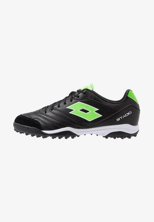 STADIO 300 II TF - Botas de fútbol multitacos - all black/spring green