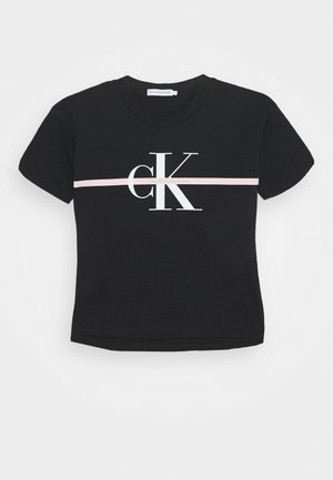 MONOGRAM STRIPE - Print T-shirt - black