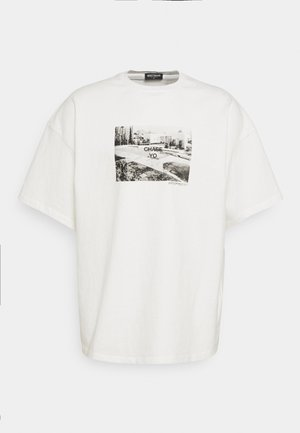 CHASE T-SHIRT OFFWHITE WASHED UNISEX - T-shirt imprimé - offwhite