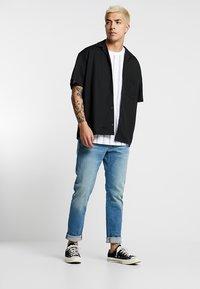 Urban Classics - HEAVY OVERSIZED STRIPE TEE - Print T-shirt - white/navy - 1