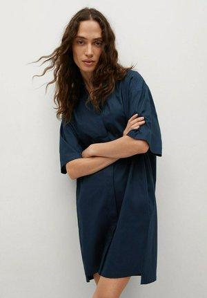 Robe chemise - marineblauw