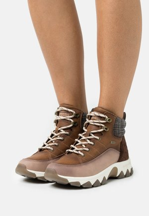YUKI TEX - Lace-up ankle boots - brown/multicolour