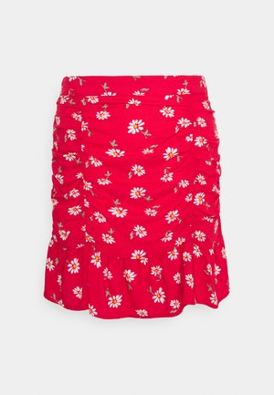 CINCH SKIRT - Minifalda - red