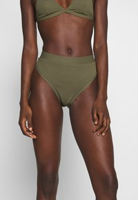 NA-KD - STRUCTURED HIGH WAISTED BOTTOM - Bikinibroekje - burnt olive - 0