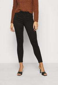ONLY Petite - ONLROYAL BIKER - Jeans Skinny Fit - black - 0