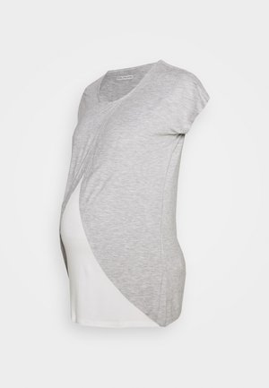 BASIC NURSING TOP - T-shirt med print - mid grey mélange