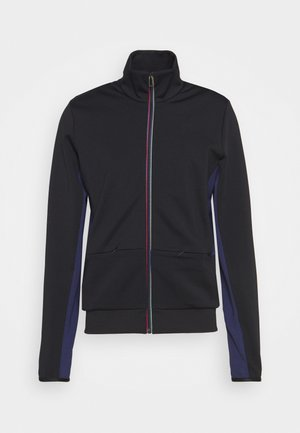 MENS ZIP TRACK - Mikina na zip - black