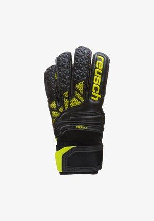 Gloves - black / lime green