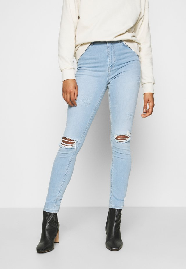 HIGH WAIST - Jeans Skinny Fit - light blue