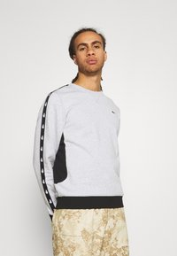 Lacoste Sport - TAPERED - Sweatshirt - silver chine/black - 0