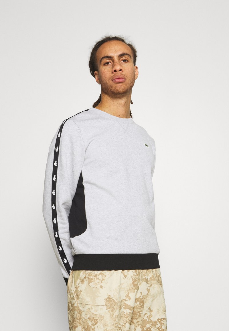 Lacoste Sport - TAPERED - Sweatshirt - silver chine/black